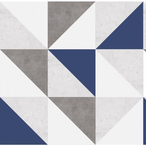 Papel de Parede Tantum Cimento e Azul Escuro em Rolo COM laminação Protetora
