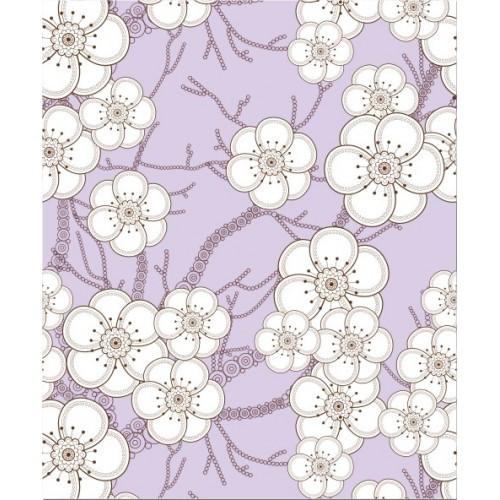 Papel de Parede Floral Blossom Lilás