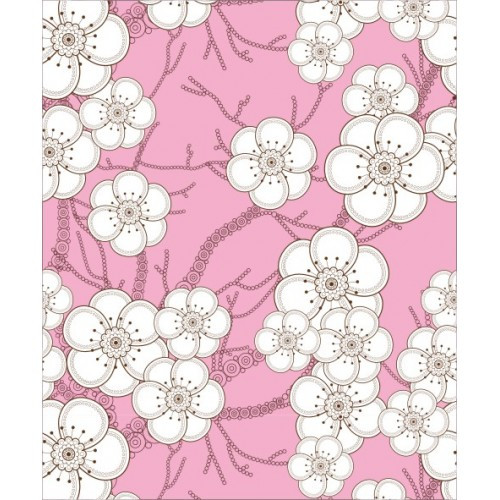 Papel de Parede Floral Blossom Rosa