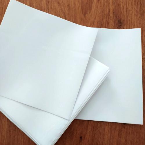 SALDÃO 12 kits de 20cm x 20cm (192 unidades) - Modelo Branco Liso COM laminação protetora brilhante CAIXA A12001