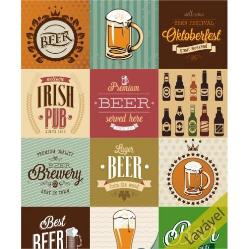 Papel de Parede Cerveja em Rolo COM laminação Protetora