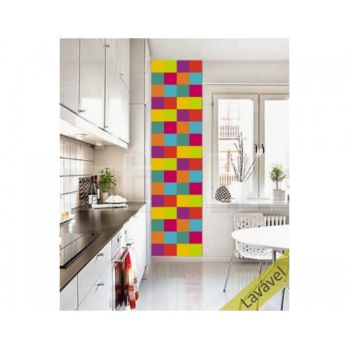 Adesivo Azulejo Color Block Cítrico