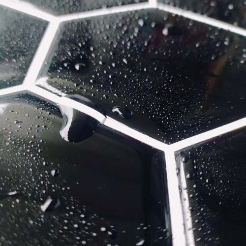Placa de Pastilha Adesiva Resinada Hexagonal Max Preto - 30cm x 30cm
