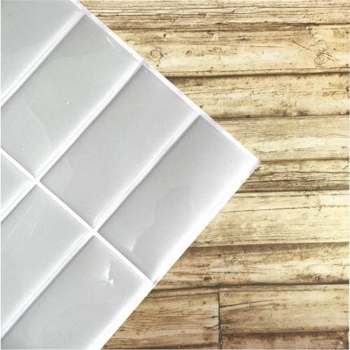 Placa de Pastilha Adesiva Resinada Linear Cinza Claro