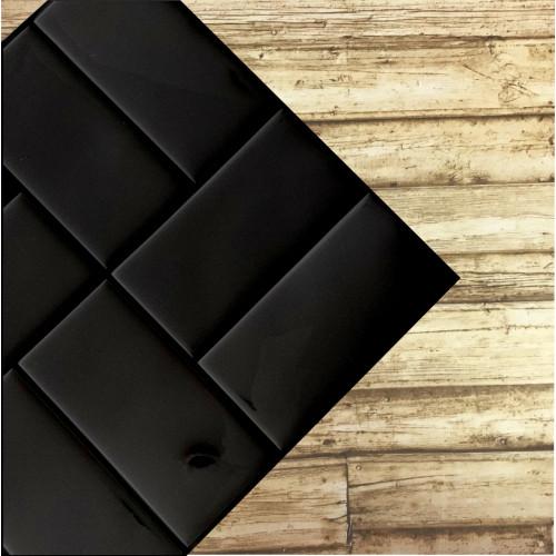 Placa de Pastilha Adesiva Resinada Patch Preto - 30cm x 30cm