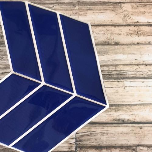 Placa de Pastilha Adesiva Resinada Wave Azul Ártico - 30cm x 30cm