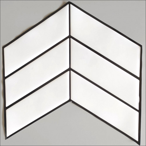 Placa de Pastilha Adesiva Resinada Wave Branco - 30cm x 30cm