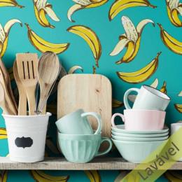 Banana Fundo Turquesa COM laminação Protetora