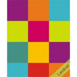 Papel de Parede Color Block Cítrico em Rolo COM laminação Protetora