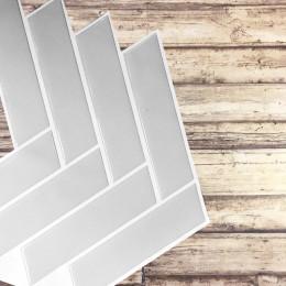 Placa de Pastilha Adesiva Resinada Espinha de Peixe Cinza - 30cm x 30cm
