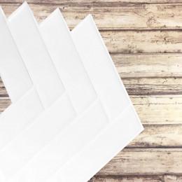 Placa de Pastilha Adesiva Resinada Espinha de Peixe Branco - 30cm x 30cm