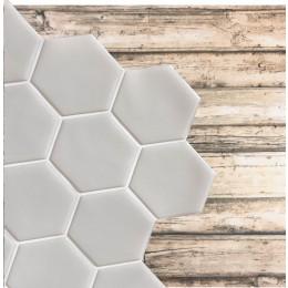 Placa de Pastilha Adesiva Resinada Hexagonal Max Cinza - 30cm x 30cm