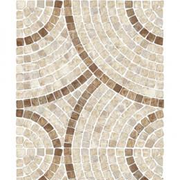 Papel de Parede Mosaico de Pedra Creme