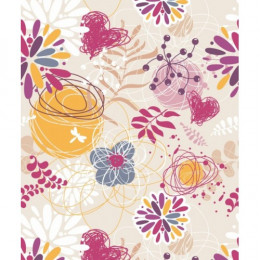 Papel de Parede Floral Olivina