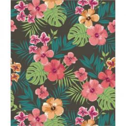 Papel de Parede Floral Honolulu Marrom