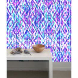 Papel de Parede Tie Dye Violeta e Azul