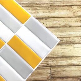Placa de Pastilha Adesiva Resinada Filete Bananica - 30cm x 30cm