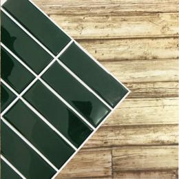 Placa de Pastilha Adesiva Resinada Filete Esmeralda