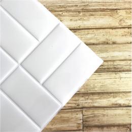 Placa de Pastilha Adesiva Resinada Patch Branco - 30cm x 30cm