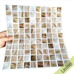 Placa de Pastilha Adesiva Resinada Perolado - 28,5cm x 31cm