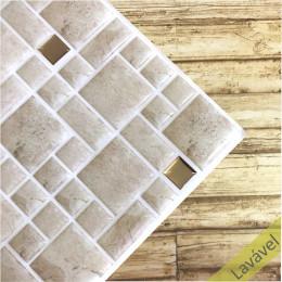 Placa de Pastilha Adesiva Resinada Mosaico Atenas- 28,5cm x 31cm