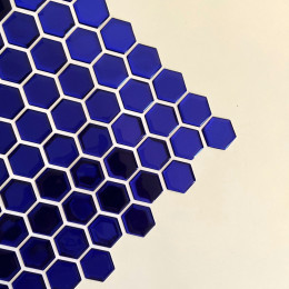 Placa de Pastilha Adesiva Resinada Hexagonal Mini Royal metalizada -  28,5cm x 27cm
