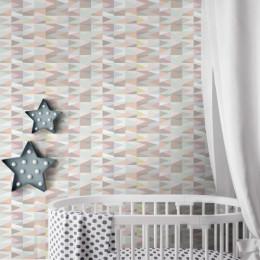 Papel de Parede Infantil Triângulo Candy Color